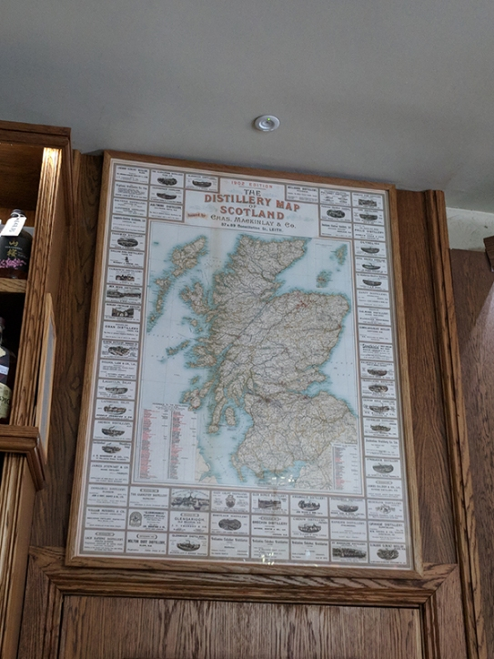 Royal Mile Whiskies: Old Distillery Map