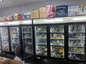 Viet Hoa Lao Market: Refrigerated veg