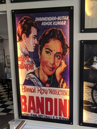 Bandini is one of my favourite films but I can't say that a poster for a film about a woman in prison for murder, and who spends her time taking care of tubercular people is the best choice for a restaurant.
