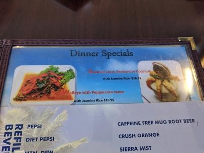 Joy's Thai: Dinner specials