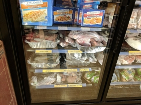 As are frozen fish and meat.