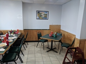 Larger table to the left.