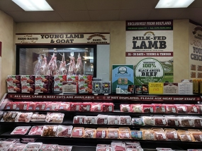 But for meat it's to the glorious meat section you must go.