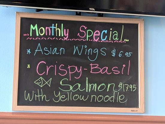 Joy's Thai: Monthly special