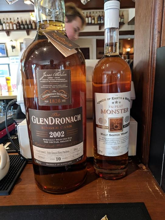The Highlander Inn: Regular whiskies