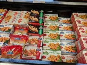 Lots of frozen prepared food on offer.
