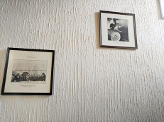 Lots of interesting photographs on the walls.