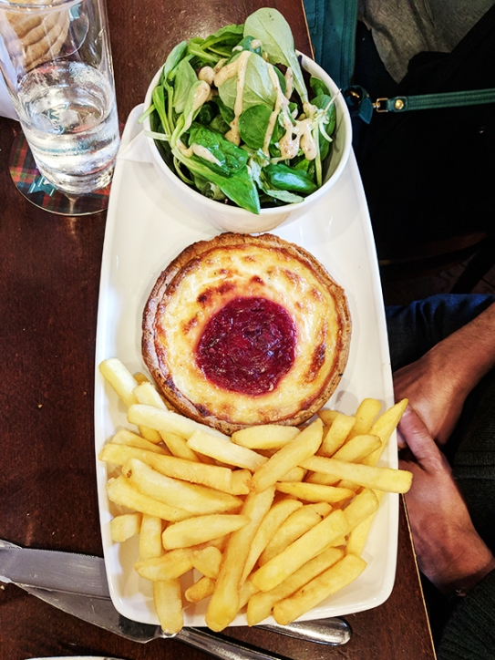 Also true of the person who got this brie and beetroot tart.