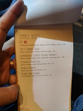 Chôm Chôm, Menu, small bites