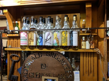Dornoch Castle Whisky Bar, Bar Bottles