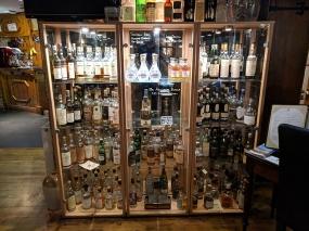 Dornoch Castle Whisky Bar, Cabinet