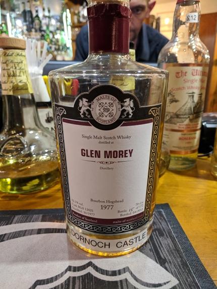 Dornoch Castle Whisky Bar, Glen Moray 1977