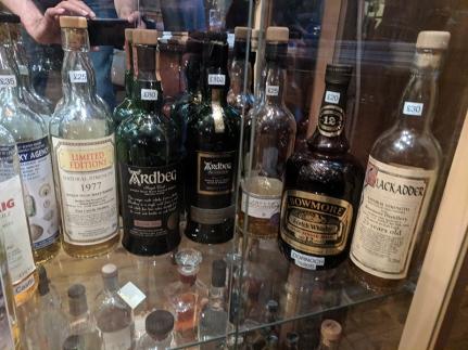 Dornoch Castle Whisky Bar, Older Islays