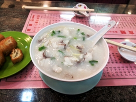 The fish was cooked perfectly and was so good with the texture of the congee.
