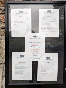 The Mash Tun: Menu posted outside