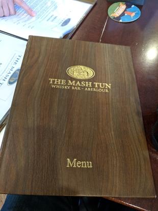 The Mash Tun: Menu