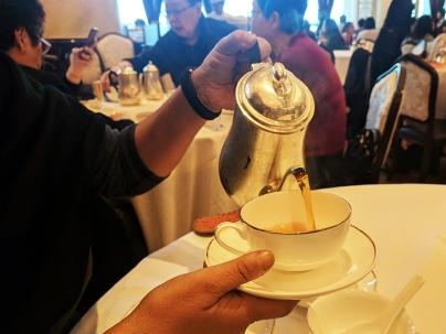 Drank some tea.
