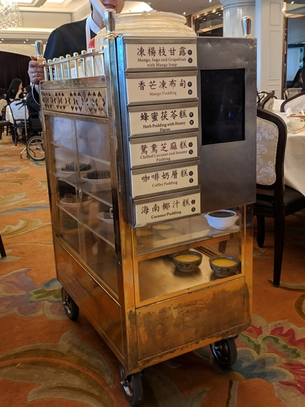 Maxim's Palace: Pudding cart