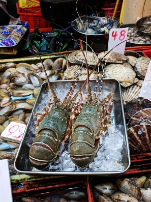 Sai Ying Pun Market, Lobsters