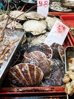 Sai Ying Pun Market, Scallops