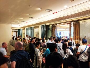 Maxim's Palace: Waiting crowd