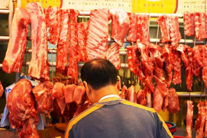 Hong Kong, 2018: Butcher at work