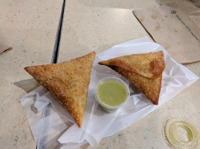 Midtown Global Market: Sambusas from Safari Express