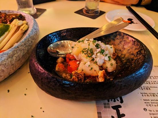 65 Peel, Burnt Hokkaido scallop