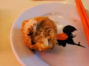 65 Peel, Crab rice ball interior