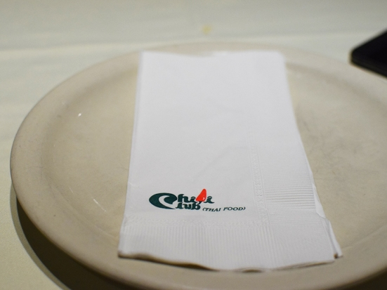 The napkins may be made of paper but they're branded.