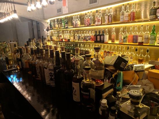 ginger, bar bottles