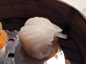 lung king heen, shrimp dumpling