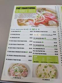 pho everest, menu-pho