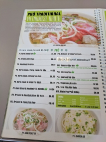 pho everest, menu-pho