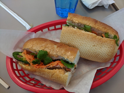 pho everest, pork roll banh mi