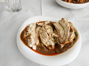 The Sichuan Chef: cold chicken w. special sauce