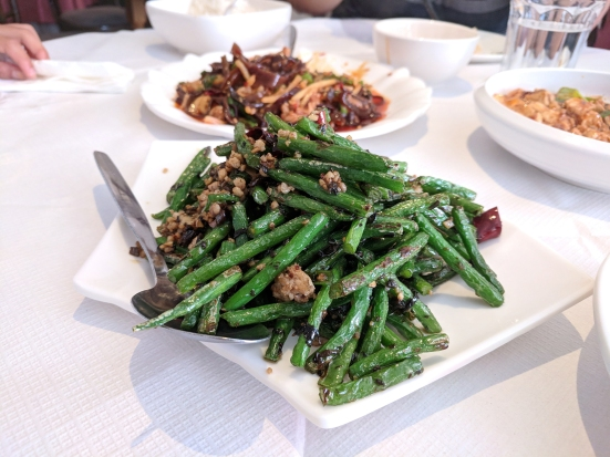 The Sichuan Chef: green beans with pork