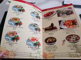 The Sichuan Chef: soups, special seafood