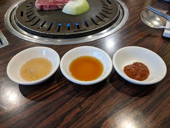 Sorabol, dipping sauces
