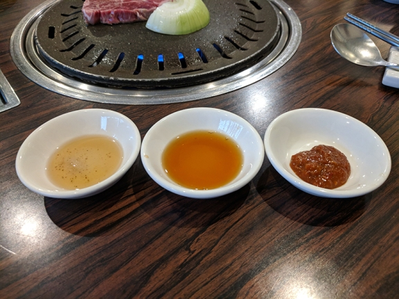 Sorabol, dipping sauces