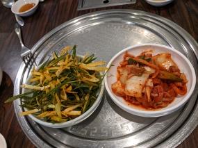 Sorabol, kimchi, green onions