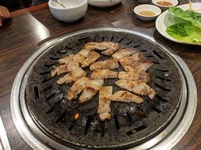 Sorabol, pork belly, cut