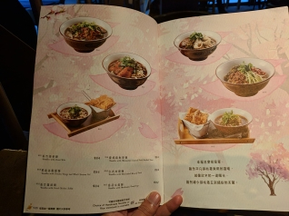 TeaWood, menu: noodles with beef