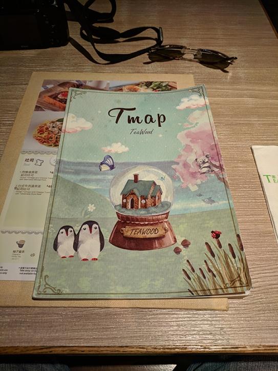 TeaWood, menu