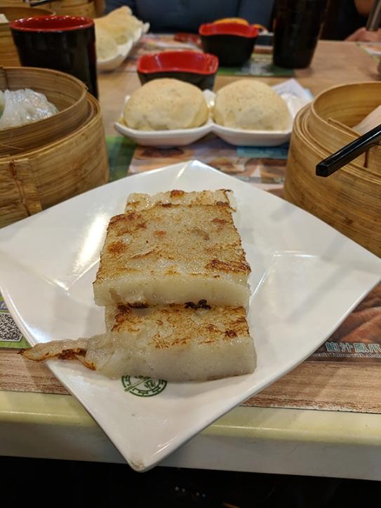 tim ho wan, turnip cake