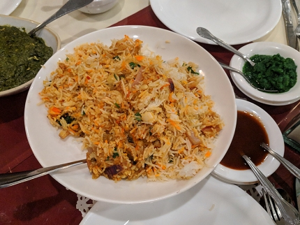Darbar India Grill, Apple Valley, Chicken biryani
