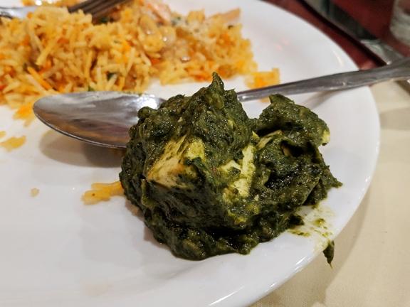 Darbar India Grill, Apple Valley, Palak paneer, close-up