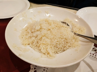 One of three massive bowls of rice that came with the entrees.