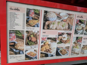 The big menu board outside the restaurant has also been redone.