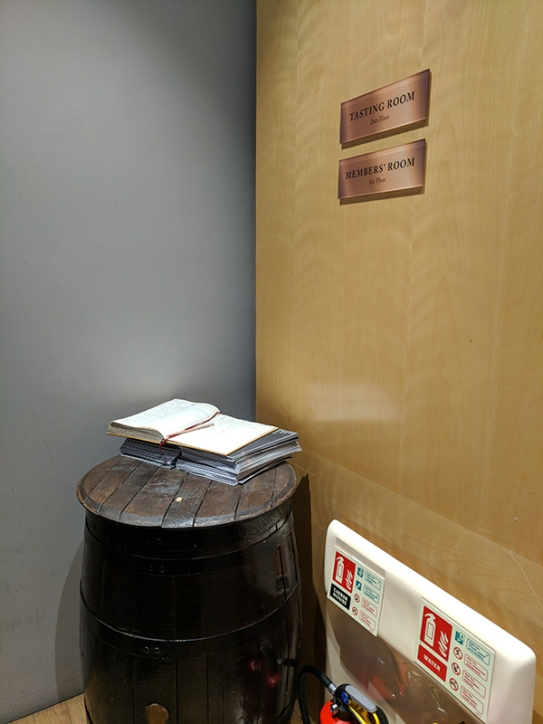 SMWS London, Guest book
